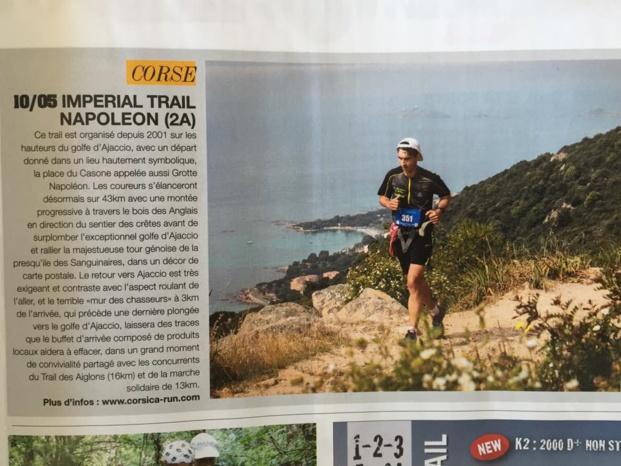 Le Trail Napoléon sur ESPRIT TRAIL du mois de mai