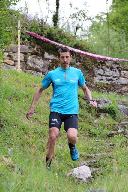 Arnaud PERRIGNON (Team ASICS) au départ de l'Impérial Trail Napoléon 2016