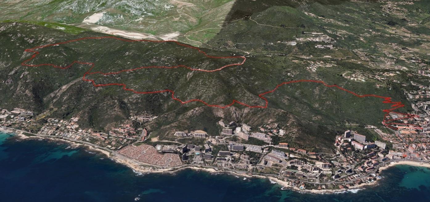 Le parcours du trail des Aiglons(16 km) vu du ciel